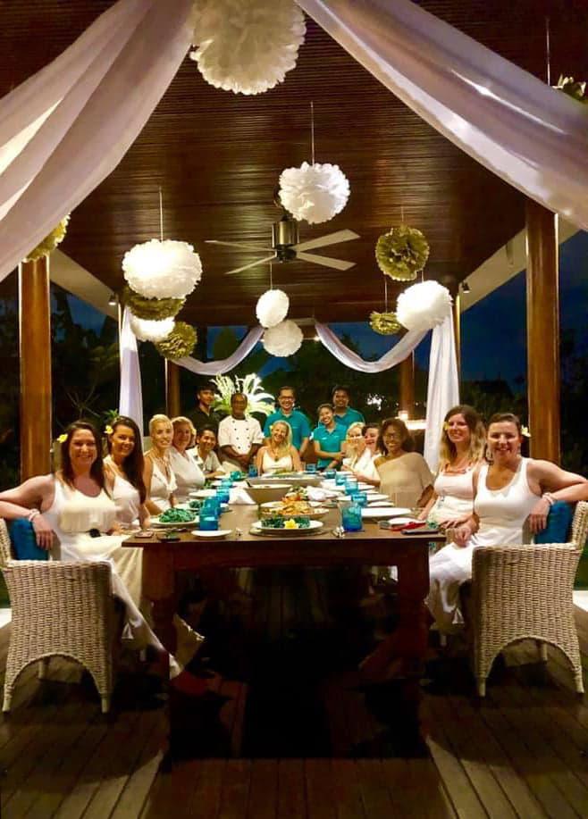 Bali retreat dinner